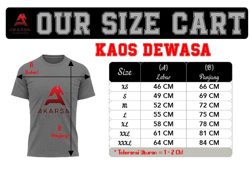Size Chart Kaos